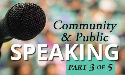 How to Prepare to Speak at a Community Event